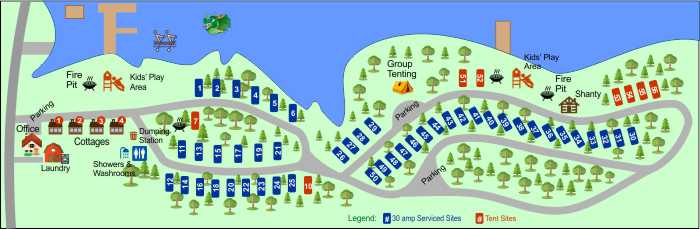 Lake Breeze Campground - site plan